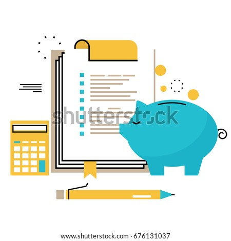 Bookkeeping illustration download free vector art stock graphics financial consulting finance guidance business advisor investment assistance bookkeeping flat line vector ccuart Choice Image