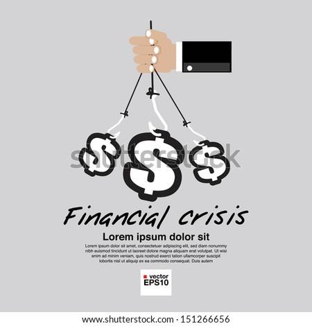 Financial Crisis Conceptual Illustration Vector.EPS10