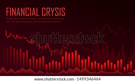 financial crysis graphic