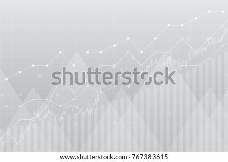 financial data graph chart ...