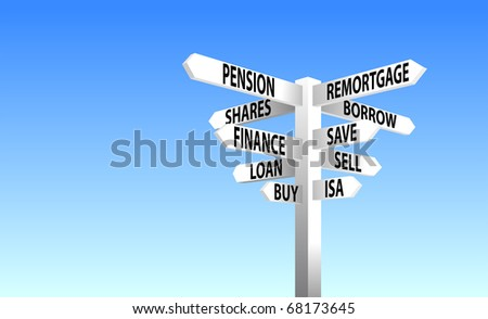 Financial decisions sign post
