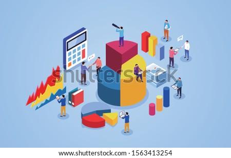 Financial digital analysis and communication, financial data statistics