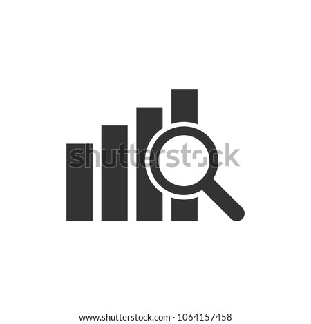 Financial forecast icon in flat style. Business analysis illustration on white isolated background. Analytics financial forecast sign concept.