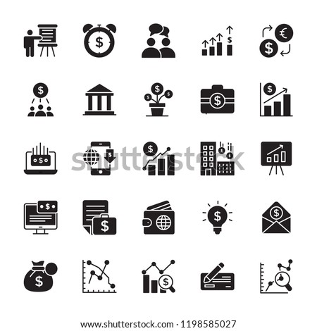 Financial Glyph Vector Icons