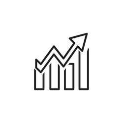 Financial growth best icon design