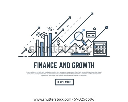financial growth concept...