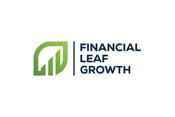financial growth leaves logo design vector