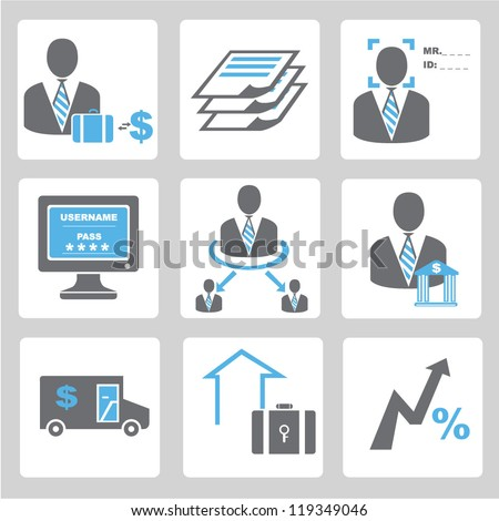 financial icon set,banking business icon set
