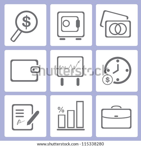 financial icon set, business icon set