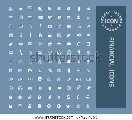 Financial icon set,vector