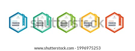 financial manager badge logo template. certified finance  accounting qualifications category design