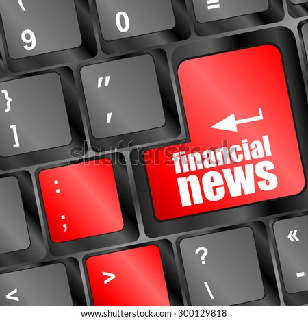 financial news button on