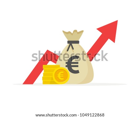 Financial performance, euro business productivity, statistic report, mutual fund, return on investment, finance consolidation, budget planning and management, income growth concept Foto stock ©
