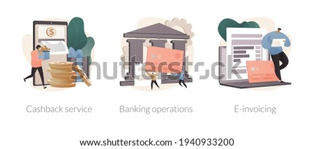 Financial software abstract concept vector illustrations. Foto stock ©