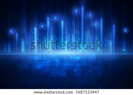 Financial technology concept. FinTech. Foreign exchange. Foto stock ©