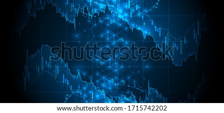 Financial trade concept. Stock market and exchange. Candle stick graph chart. Сток-фото ©