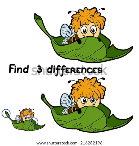 find 3 differences  bee
