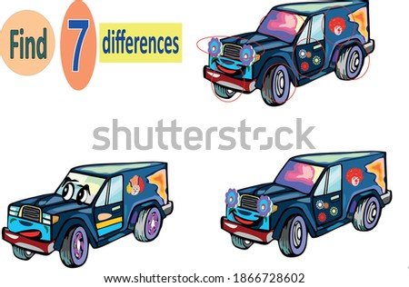 find 7 differences car picture