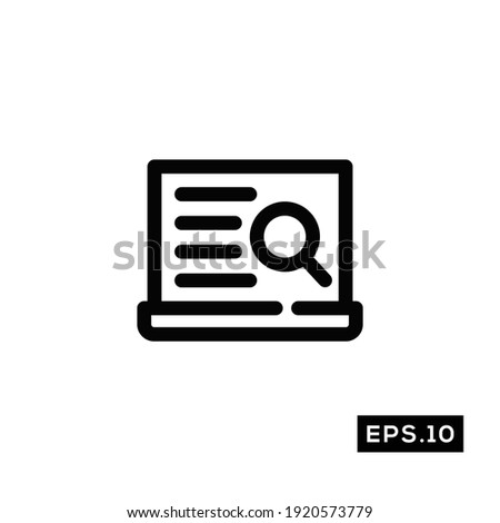 Find document line icon vector. Search document symbol vector