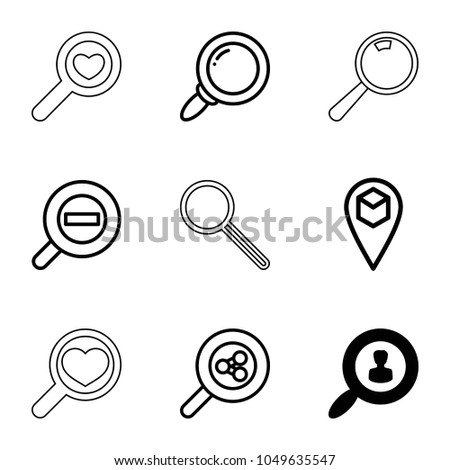find icons set of 9 editable