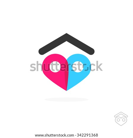 find love place mark couple