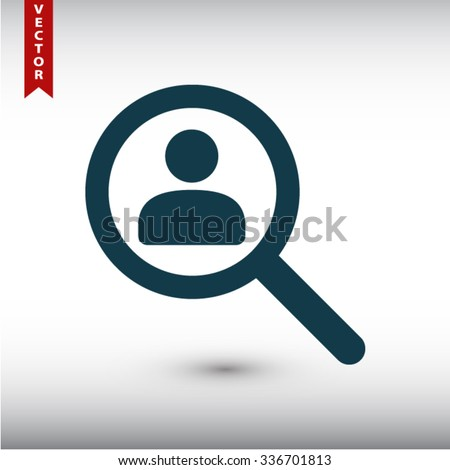 find people icon. One of set web icons