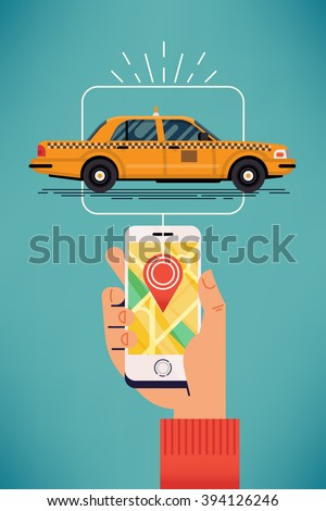 find taxi near you cool vector