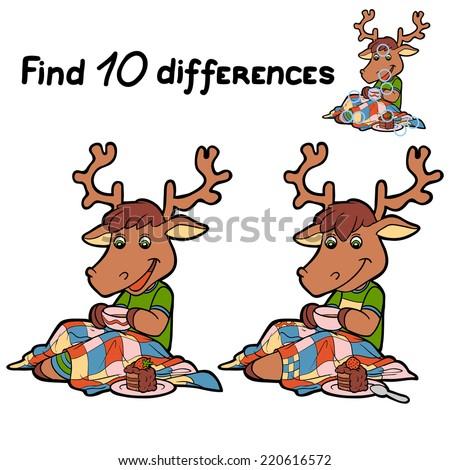 Find ten differences deer