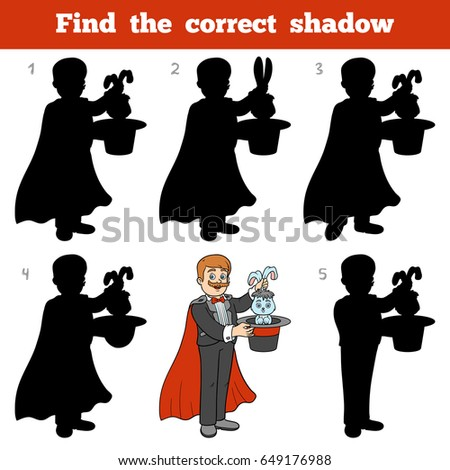 Find the correct shadow, education game for children, Illusionist