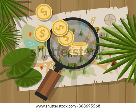 find treasure hunt money map