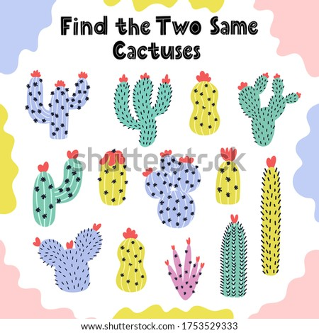 find two same cactuses logical
