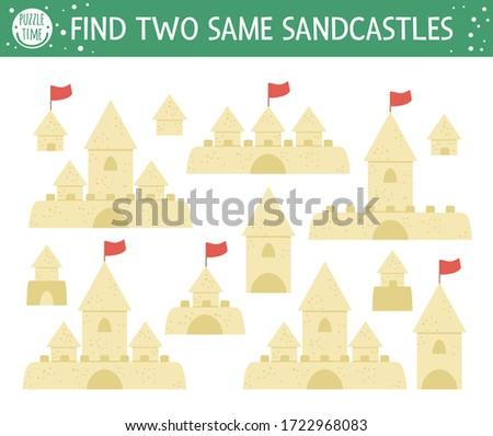 find two same sandcastles
