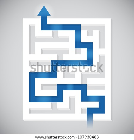 Finding a path - stock vector
