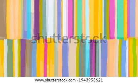 Fine art abstract, oil painting strips made with rough brush strokes and the palette knife. Good vibe artwork with art reflection, colorful texture background. Trend contemporary art. Colorful canvas.
