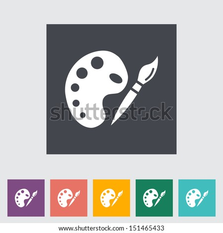Fine Arts. Single flat icon. Vector illustration.