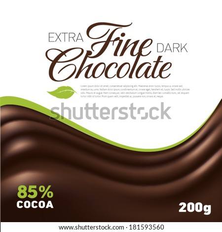 Fine Chocolate wave background label inspiration