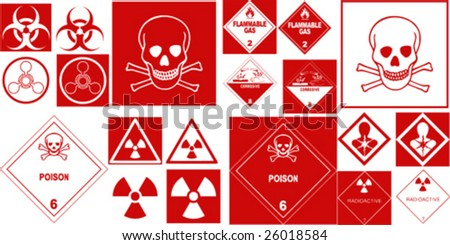 fine hazard danger vector red danger collection