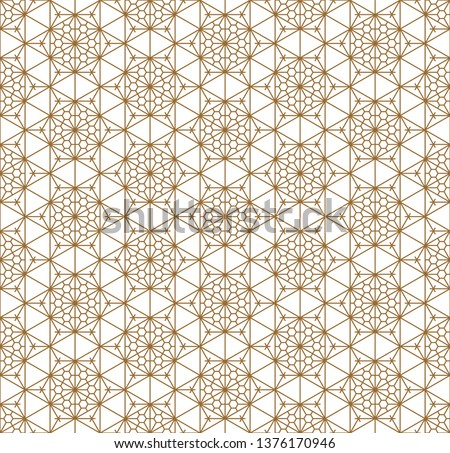 Fine seamless japanese pattern kumiko for shoji screen.Great design for any purposes. Japanese pattern background vector. Japanese traditional wall, shoji.Average lines.