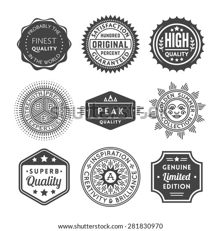Finest Quality Vintage Seals, Labels and Badges Collection