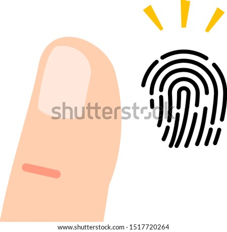 Finger and image of a finger print