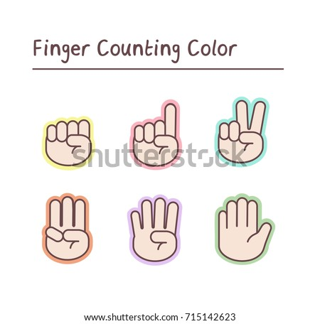 coloring pages counting fingers - photo#27