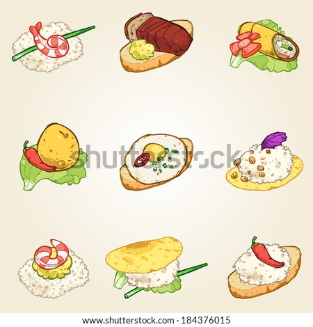 finger foods set