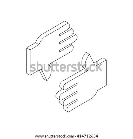 finger frame icon  isometric 3d