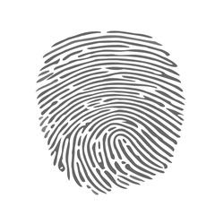 finger print fingerprint lock secure security logo vector icon illustration