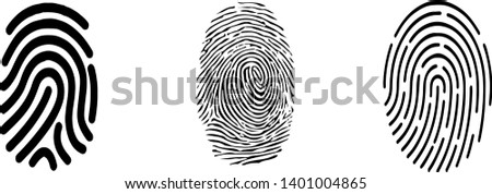 finger print icon on white background