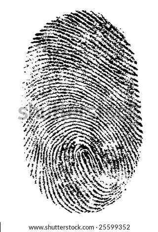 Finger print isolated on white background Vector