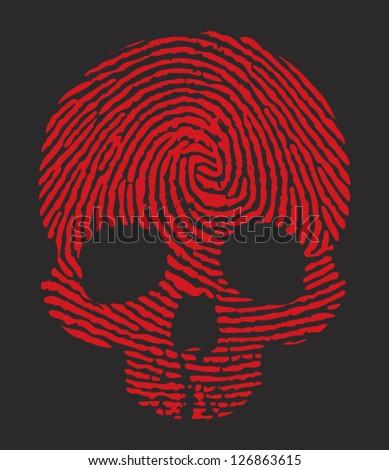 finger print skull