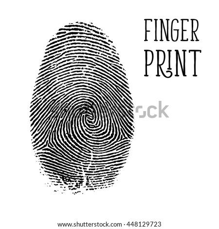 Finger print, vector