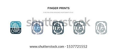 finger prints icon in different