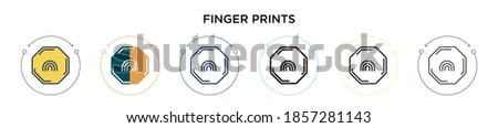 finger prints icon in filled